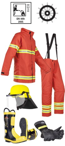 Firemans outfit MED approved nomex type